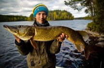 Tobias from Team Galant with 116 cm pike.