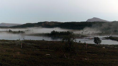 Sjöröken lägger sig över Badasjokk.