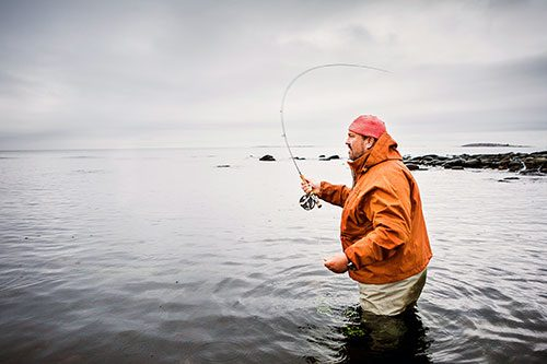 Johan Broman på fisketur i Fiskedestination.