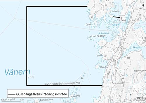 Fredningsområdet omfattar allt vatten innanför räta linjer mellan följande punkter: SO: 58°53,52 N, 14°00,72 O, SV: 58°53,52 N, 13°38,97 O, NV: 59°05,36 N, 13°38,97 O, NO: 59°05,36 N, 13°56,40 O (Kils udde). Området avgränsas från inre delen av Kilsviken av en linje från Österöns östra udde (59°03,82 N, 14°03,94 O) till udden rakt väster om Lövetorp (59°03,71 N, 14°05,75 O).